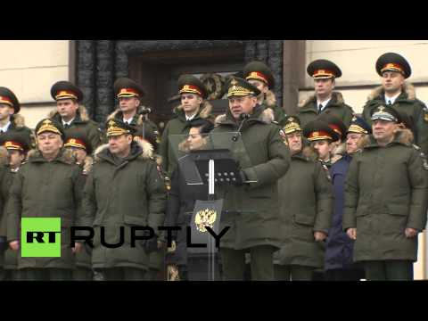 Russia: Shoigu unveils monument to heroic WWI and WWII dead