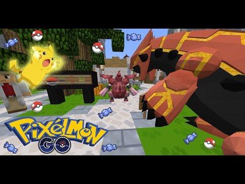 Rivth28 - Minecraft เซิฟมอด PixelGO : แนะนำเซิฟ Pokemon จับ+สู้โปเกม่อน เปิดกาชาปอง บลาๆ [MOD]