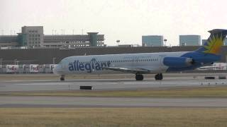 EXTREMELY LOUD | Allegiant Air McDonnell Douglas MD-83 Roars Out Minneapolis/St. Paul Int