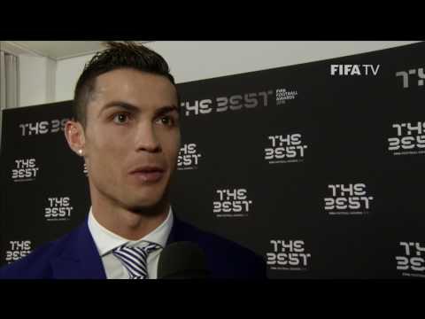 CRISTIANO RONALDO - Post Award Reaction - THE BEST FIFA FOOTBALL AWARDS 2016