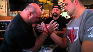 Scot Mendelson Defeats Arm Wrestling Legend Travis Bagent!!!