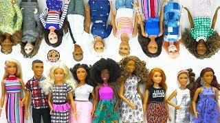 Giant Barbie Doll Haul ! Box of Cool Barbie Dolls Tall, Petite, Curvy, Ken Fashionistas