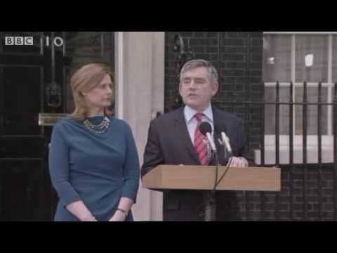 Gordon Brown resigns as Prime Minister and leaves Downing Street - 11/05/2010