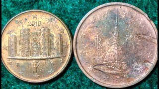 1 & 2 Euro Cent Coins Of Italy