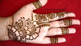 easy simple mehndi henna designs tutorials-Mehndi design for hands begineers