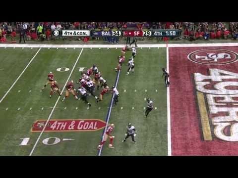 Super Bowl XLVII Ravens vs 49ers 4th Down Play Slow Mo