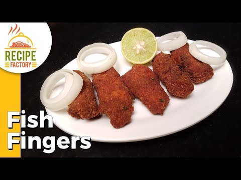 Fish Fingers | Finger Fish Fry | How to make Fish Fingers | Recipe Factory