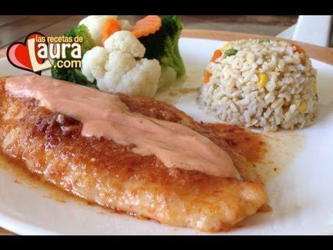 Filete de pescado en crema de Chipotle Las Recetas de Laura Recetas Light