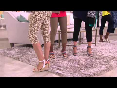Women with Control Printed Pedal Pushers & Crop Pants Set on QVC