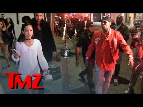 Chris Brown & Karrueche Tran -- Fool Me Thrice ... Leave Club Together, But ...
