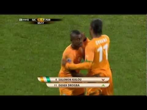 Drogba MAGIC entrance [World Cup 2010] Portugal - Ivory Coast