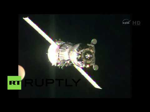 Space: The Soyuz rocket just docked successfully at ISS