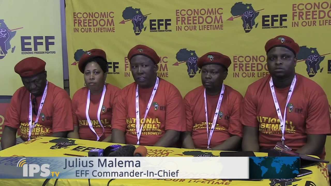 Malema's Economic Freedom Fighters challenge South African ...