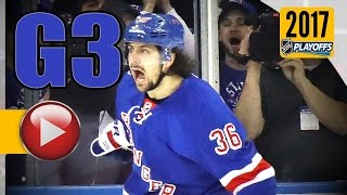 New York Rangers vs Ottawa Senators. 2017 NHL Playoffs. Round 2. Game 3. May 2nd, 2017. (HD)