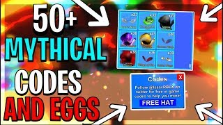 *NEW* 50+ MYTHICAL CODES WITH EGGS ON MINING SIMULATOR - ROBLOX