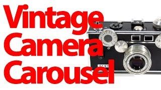 Vintage Camera Carousel -  Kodak, Keystone & Other Old Cameras - 4k UHD