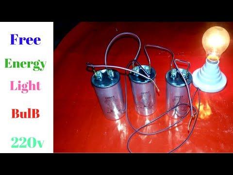 Free Energy Generator Light Bulb 220 v 200 Watt With AC Comeresor  Capacitor thumbnail