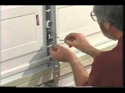Martin garage door keyed center lock system youtube - Installing a lock on a bedroom door ...