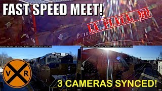 HIGH SPEED MEET ON 3 SYNCED VRF CAMERAS!  LA PLATA, MO