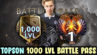 Topson 1000 lvl Battle Pass vs TOP-1 10k and SMURF