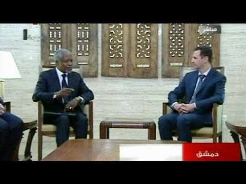 Kofi Annan rencontre Bachar al-Assad