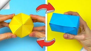 Antistress Transformer for 1 minute | Paper origami toy | Easy paper crafts DIY
