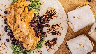How To Make Chipotle Chicken and Black Bean Burritos By Rachael