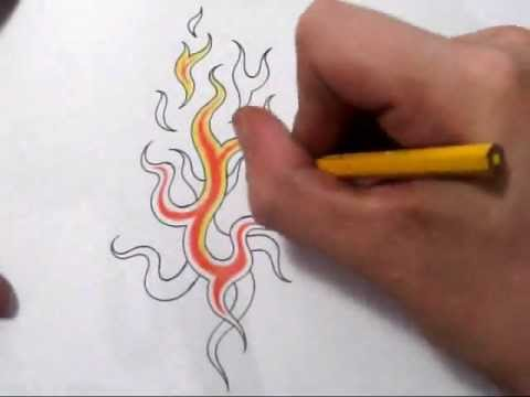Cool Fire Design Fire Tattoos Drawing Cool