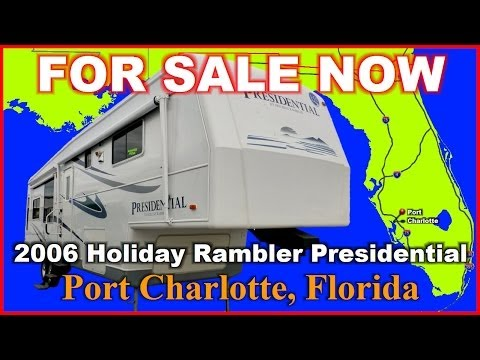 2006 Holiday Rambler Presidential Used Fifth Wheel, Florida, Port Charlotte, Fort Myers, Sarasota