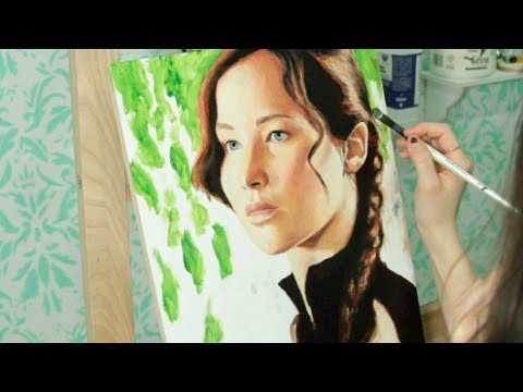 Speed Painting: Katniss Everdeen / Jennifer Lawrence