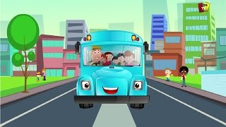 Bánh xe trên xe buýt | vần điệu trẻ | Preschool Kids Songs | Nursery Rhymes | The Wheels On The Bus
