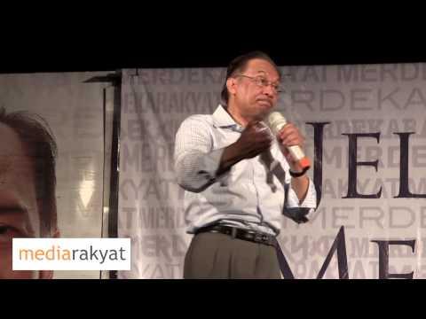 """Anwar Ibrahim: Air Mata Darah Bercampur Keringat, Bumi Dipijak Milik """"Kroni"""""""