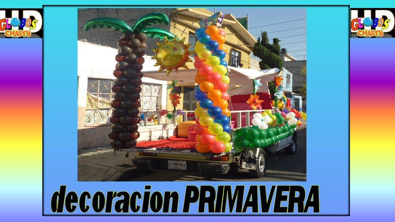 Decoracion con globos primavera youtube for Decoracion primavera infantil