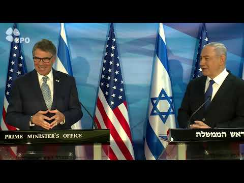 PM Netanyahu meets with US Energy Secretary Rick Perry