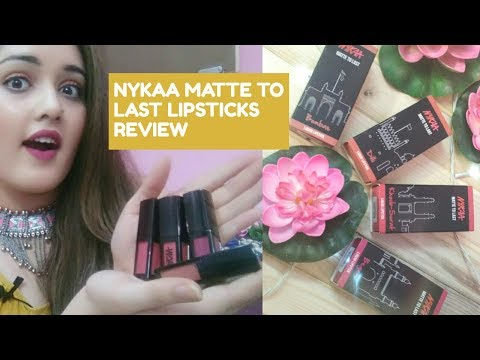 Nykaa Matte To Last Liquid Lipsticks | Swatches & Review | begum | dilli | bombae | khoobsurat