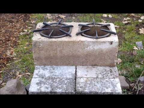 Countertop Rocket Stove : Two Rocket Stoves Made From Cinder Blocks How To Save Money And Do ...