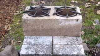Awesome Concrete Brick and Block Double Burner Rocket Stove