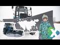Чистим дороги от снега, катаемся на огромном тракторе, Егор рулит, EgorX