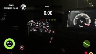 BMW M5 F90 TOP SPEED Test (345Km/h GPS )