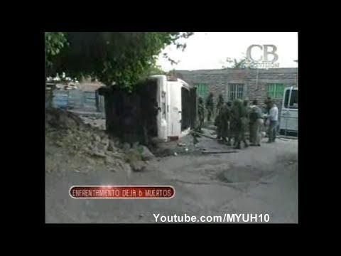Balacera en yurecuaro Michoacán 5 sicarios muertos