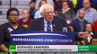 'Free education, healthcare & federal minimum wage' – Bernie Sanders in Virginia rally