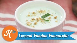 Resep Coconut Pandan Pannacotta | LADY DE LAURA