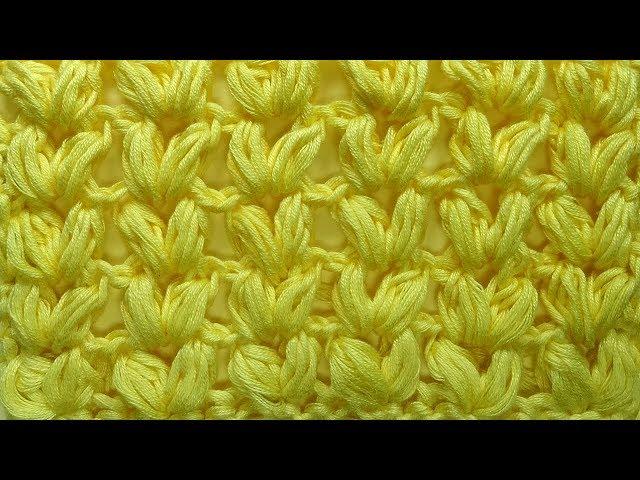 Колосок - Узор вязания из пышных столбиков Вязание крючком 93
