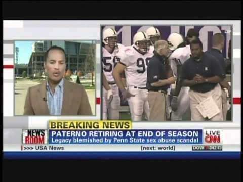 Joe Paterno Retires as Penn State Football Coach (November  9, 2011)