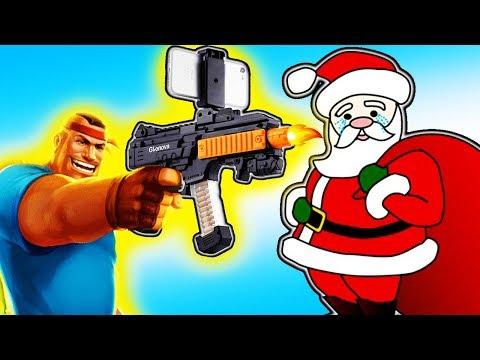 Новогодние Бои за подарки в игре Guns of Boom и мега крутые ПИСТОЛЕТЫ дополненной реальности #ФГТВ