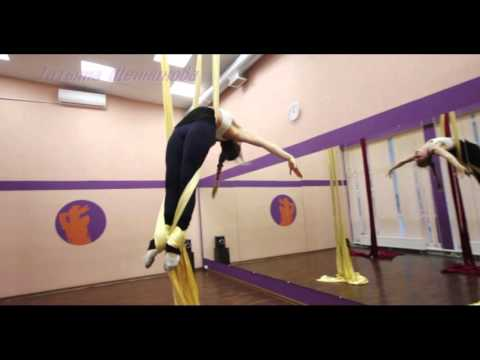 """Видео """"Танцы на полотнах, воздушные полотна"""", хореограф Татьяна Щенникова."""