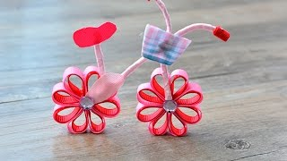 Pandahall Video Tutorial – DIY Lovely Pink Ribbon Bicycle Craft for Children's Day
