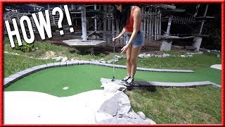 THE UNLUCKIEST MINI GOLF SHOT EVER! - COULD'VE BEEN A HOLE IN ONE!