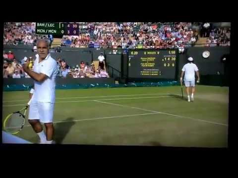 Henri leconte Wimbledon 2014 comical tennis