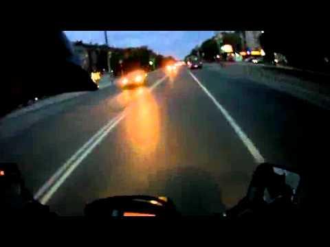 ДТП МОТО  авария от первого лица / Motorbike crash caught on tape crash